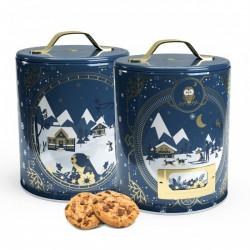 boîte mini cookies aux pépites de chocolat et fleur de sel
